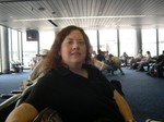 Cynthia in Chicago Airport OTW to Japan