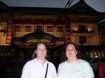 Mette and Cynthia in front of Kabuki Theater in Ginza