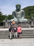 Jan, Mette and Cynthia in front of Amita-Buddha, Daibutsu (1)