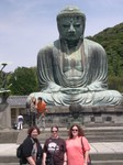 Jan, Mette and Cynthia in front of Amita-Buddha, Daibutsu (2)