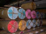 Rolls of paper at Toyo Paper factory