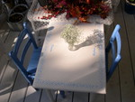 Kid's table for Cameron and Stephanie, painted by Nita