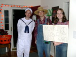 Adam (villiage person^H^H^H^H^H^H^H^Hsailor), Justis (hick), and Charlotte (protester)