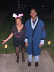Jen and Quincy (Hef and his bunny)